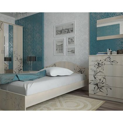 "Модульная спальня № 8 ""Цветы"" (комп. 1)"