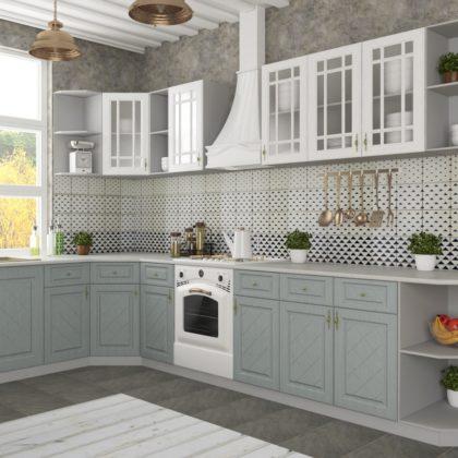 """Модульная кухня """"Гранд"""" (белый/серый)"""