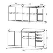 Схема кухни на 1,6 м