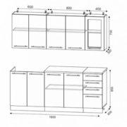 Схема кухни на 1,8 м
