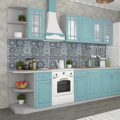 """Модульная кухня """"Гранд"""" (зеленый) 2,2 м"""