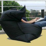 Кресло-подушка-трансформер (нейлон) черный в интерьере