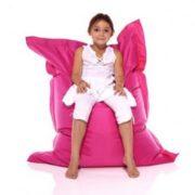 Кресло-подушка-трансформер (нейлон) фуксия в интерьере