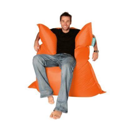Кресло-подушка-трансформер (нейлон) оранжевый в интерьере