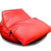 Кресло-подушка-трансформер с ремнями (нейлон) красный