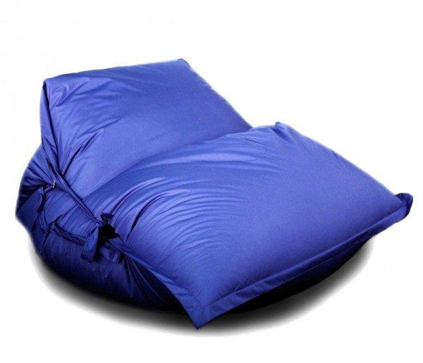 Кресло-подушка-трансформер с ремнями (нейлон) синий