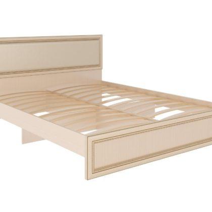 """Кровать с ортопедическим основанием и мягкой спинкой """"Беатрис"""" модуль №10"""
