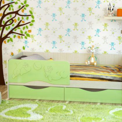 Кровать «Дельфин-2» МДФ 1,9 м