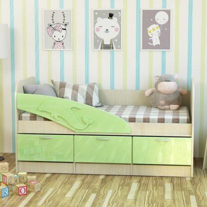 Кровать «Дельфин» МДФ белфорд/эвкалипт