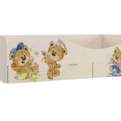 """Кровать с ящиками""""Мишки"""" КР-3"""