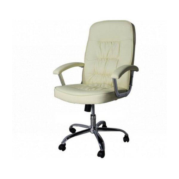 Кресло офисное 9923 PVC (кремовый)