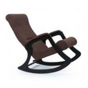 """Кресло-качалка """"Dondolo-2""""(венге/коричневый)"""