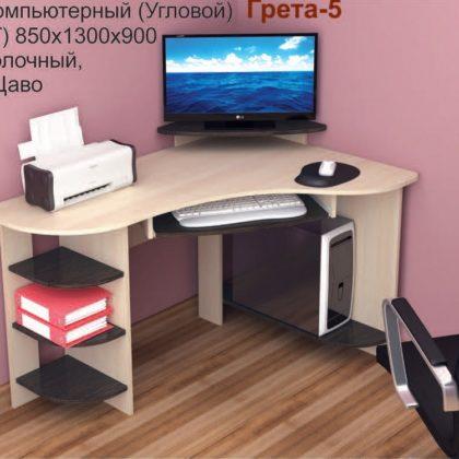 """Стол компьютерный """"Грета-5"""" (венге/дуб молочный)"""