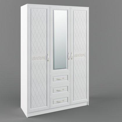 Шкаф трехстворчатый с ящиками «Diamante» ШДИ 1350.1