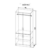 Шкаф двухстворчатый «Diamante» ШДИ 900.2 схема