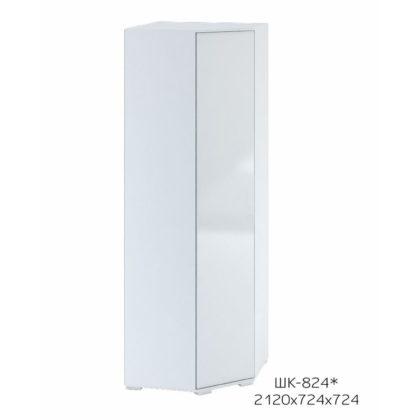 """Шкаф угловой """"Терра"""" (белый/венге/белый глянец) ШК-824"""