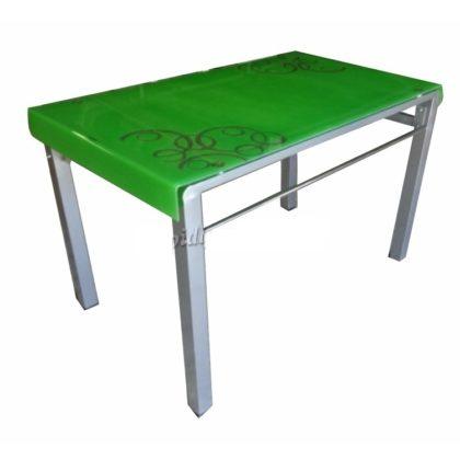 Стол обеденный DT-033 (стекло зеленое)
