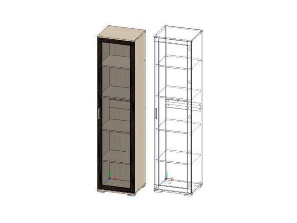 шкаф пенал со стеклом поло 1 шк 02