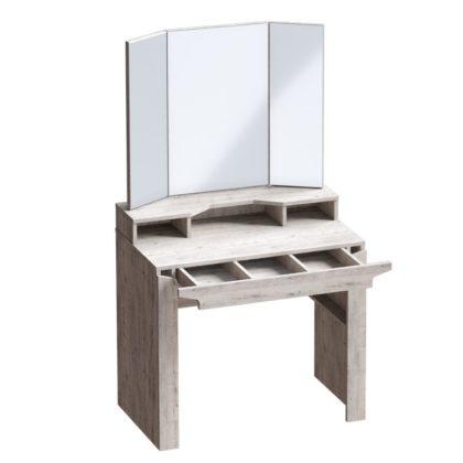 """Столик туалетный """"Соренто"""" (дуб бонифаций/кофе структурный матовый)"""