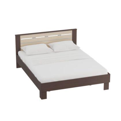 """Кровать 1400 """"Женева"""" (венге/дуб молочный)"""
