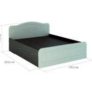 """Кровать с ящиками """"Эльза"""" 1,6 м КМ-913"""