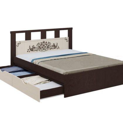 """Кровать с ящиками """"Жасмин"""" 1,6 м"""