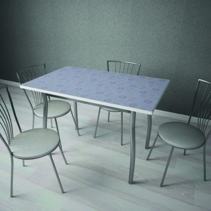 Стол обеденный СТ-20 (стальной с цветами)