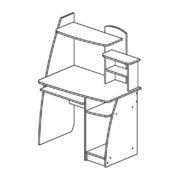 """Стол компьютерный """"Интел-17"""" схема"""
