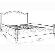 """Кровать детская """"Акварель"""" 1,4 м схема"""