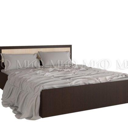 """Кровать двуспальная """"Фиеста"""" 1,6 м (венге/дуб беленый)"""
