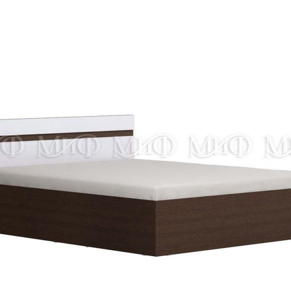"""Кровать двуспальная """"Ненси"""" 1,6 м (венге/белый глянец)"""