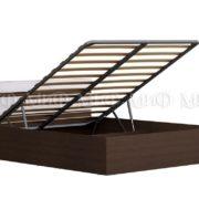 """Кровать двуспальная """"Ненси"""" 1,6 м с подъемным механизмом (венге/белый глянец)"""