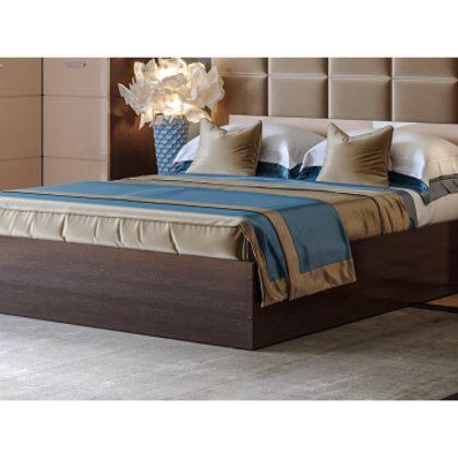 """Кровать двуспальная """"Ненси"""" 1,6 м с подъемным механизмом (венге/капучино глянец)"""