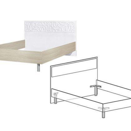 """Кровать двуспальная """"Винтаж"""" 1,4 м"""