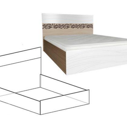 """Кровать двуспальная """"Гретта"""" 1,6 м"""