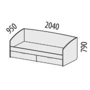 """Кровать """"Бриз"""" 54.11 схема"""