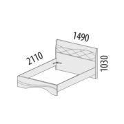 """Кровать двуспальная """"Соната"""" 98.02.1 схема"""