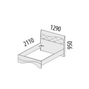 """Кровать """"Соната"""" 98.03.1 схема"""