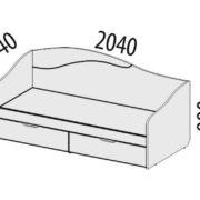 "Кровать ""Фристайл"" 56.11 схема"