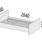 "Кровать ""Фристайл"" 56.10 схема"