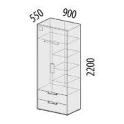 "Шкаф для одежды ""Фристайл"" 56.01 схема"