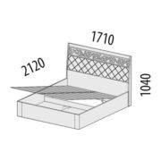 """Кровать двуспальная с подъемным механизмом""""Тиффани"""" 93.21 схема"""