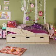 """Кровать детская """"Дельфин"""" 1,8 м (ваниль матовый)"""