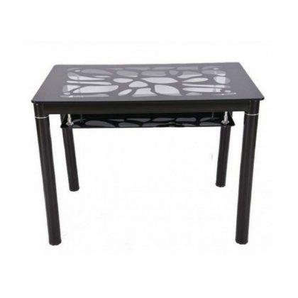Стол обеденный В 828-2 (стекло черное)