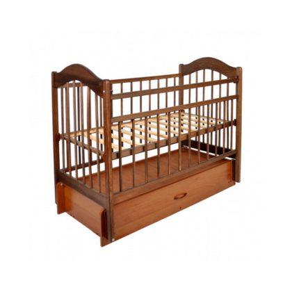 Кроватка детская из дерева арт.403, дуб