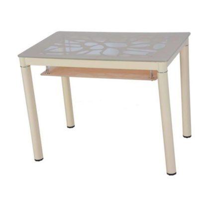 Стол обеденный В 828-2 (стекло кремовое)