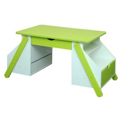 Стол для детского творчества - с ящиками, белый/лайм