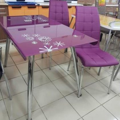 Стол обеденный DT-787 (стекло фиолетовое)