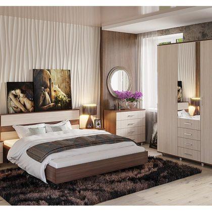 """Модульная спальня """"Монако"""" ясень шимо светлый/ясень шимо темный"""