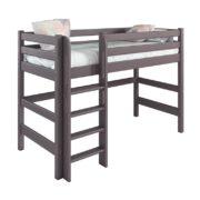 Вариант 5 Полувысокая кровать Соня Лаванда с прямой лестницей